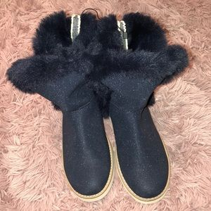 ZARA Blue winter boots size 4 1/2 fit into 6M